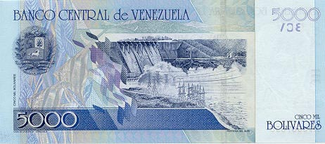 Image of money from Venezuela