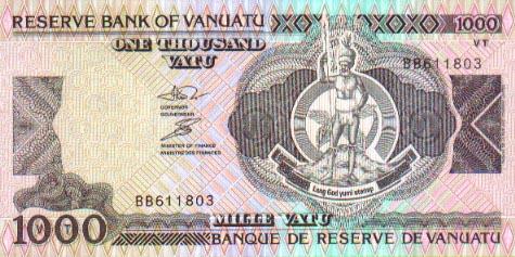 Image of money from Vanuatu