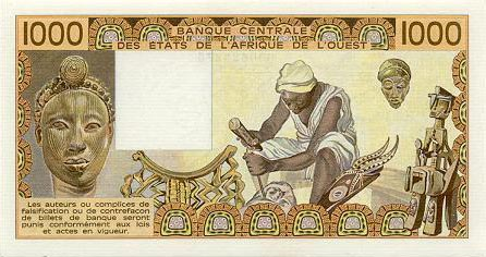 Plaatje van geld uit Senegal