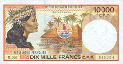 Image of money from French Polynesia