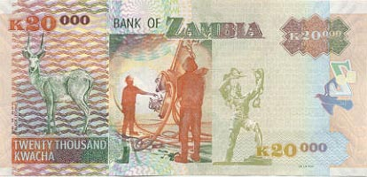 Image of money from Zambia