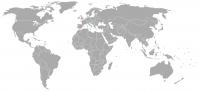 Plaatje van positie in de wereld van Albanië