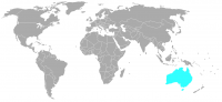 Image of position in world of Australia