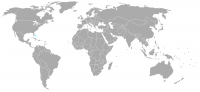 Image of position in world of Bahamas