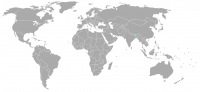 Image of position in world of Bhutan