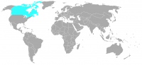 Image of position in world of Canada