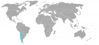 Image of position in world of Chile