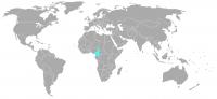 Immagine della posizione nel mondo di Camerun