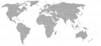 Immagine della posizione nel mondo di Cuba