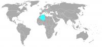 Imagen de la posición en el mundo de Argelia