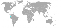 Image of position in world of Ecuador