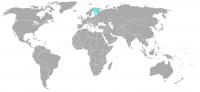 Plaatje van positie in de wereld van Finland