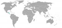 Imagen de la posición en el mundo de Honduras