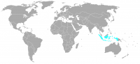 Image of position in world of Indonesia