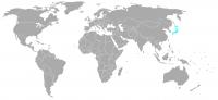 Image de la position dans le monde de Japon
