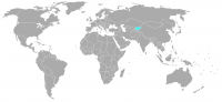 Image of position in world of Kyrgyzstan