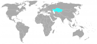 Image of position in world of Kazakhstan