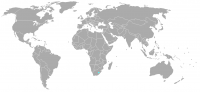 Image of position in world of Lesotho