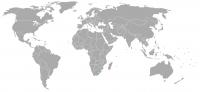 Plaatje van positie in de wereld van Lesotho