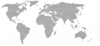 Image of position in world of Lithuania