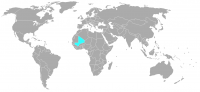 Image of position in world of Mali