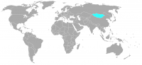 Image of position in world of Mongolia