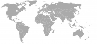 Image of position in world of Mauritius