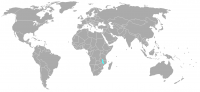 Image of position in world of Malawi