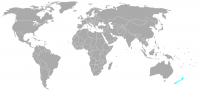 Image of position in world of New Zealand