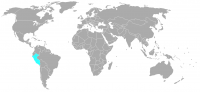 Immagine della posizione nel mondo di Peru