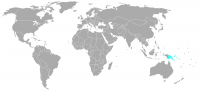 Image of position in world of Papua New Guinea