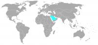 Image of position in world of Saudi Arabia