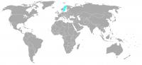 Image de la position dans le monde de la Suède