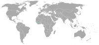 Imagen de la posición en el mundo de Sierra Leone