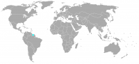 Image of position in world of Surinam