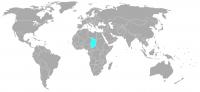 Imagen de la posición en el mundo de Chad