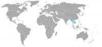Imagen de la posición en el mundo de Tailandia
