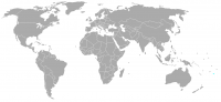 Image of position in world of Tonga