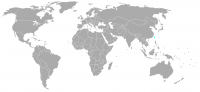 Image of position in world of Taiwan