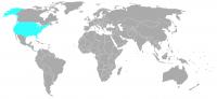 Imagen de la posición en el mundo de Estados Unidos
